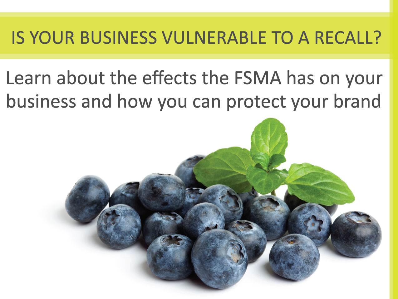 join our traceability webinar to learn about food safety and recall regulations